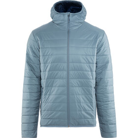Icebreaker Hyperia Hooded Jacket Men Granite Blue/Prussian Blue